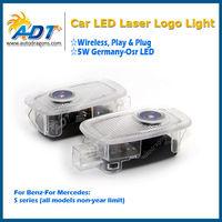 Car plug & play LED laser logo door light welcome light for Benz for Mercedes