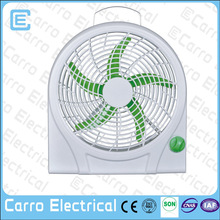 High speed 10inch 12V plastic battery operated mini toy fan with lithium battery