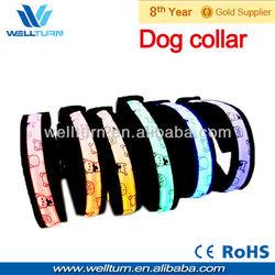 China pet collar LED shinny safety dog collar CE
