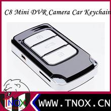 2013 New Multi-Functional Full HD 720P Key Chain Mini DVR camera C8 with Flashlight Car Key Hidden Camera