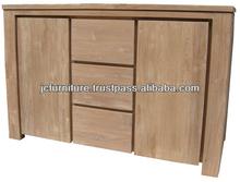 Solid Teak Wood Minimalist Buffet Sideboard