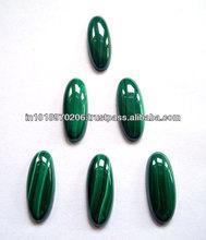 Natural Malachite Oval Cabochon Loose Gemstones