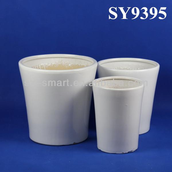 Ceramic Plain White Plant Pot View Plant Pot Sy Product
