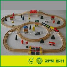 Wooden 70pcs Life Train Track