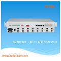 60 FXS FXO üzerinden VoIP fiber Mux, ses/veri, rs-232, üzerinden ses ip dönüştürücü
