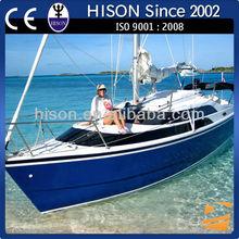 Hison 26ft Sailboat antique model outboard motor sailboat manufacturer for sale luxury decoration