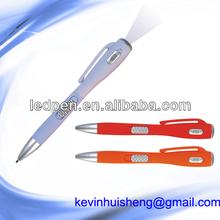 Promotional lamp pen torch ball pen