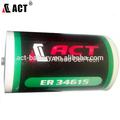Er34615 19ah 3.6v bateria de lítio de célula d para medidor de água, medidor de gás