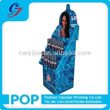 Hot sale eye catching 4 color printing water proof durable high glossy cosmetic High Quality paper display pop up