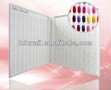 120 Blank Nail art color card book for UV gel nail polish