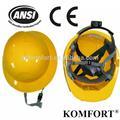 La construcción de polietileno de alta densidad de trabajo personalizado ce& ansi z87.1 casco de seguridad