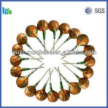 Best selling fruity lollipop bulk popping chocolate lollipops fruit jelly lollipop