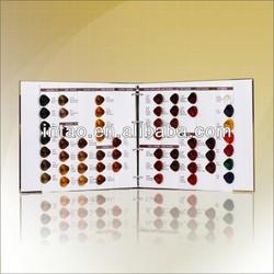 hair color chart, color catalog
