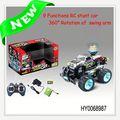 rotação 7ch dublê de música de dança lanterna carro rc brinquedo do carro de motor a gasolina hy0068987