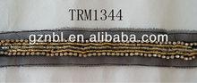 beaded trim in trimming/beaded bugle trim/beaded applique trim TRM1344