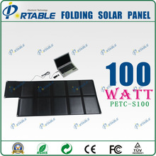 100W DC 19V Portable solar panel charger for laptop,battery,Ipad,smartphones