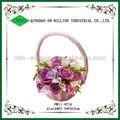 rattan tecido cesta de casamento decoração