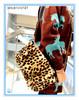 Lady Autumn Winter Wool Made Leopard Print Handbags Shoulder Bag