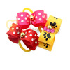 V1013 Handmade Pet Grooming Accessories Mix ColorHair Bow Dog Rubber Bands Dog Hair Bows Dog Show Supplies