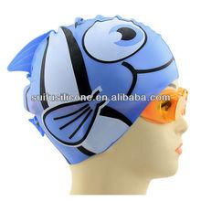 animal print silicone swimming cap