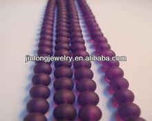 6mm transparent fluorescent color glass beads YZ029