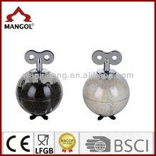 Ball shape transparent pc body manual spice grinder
