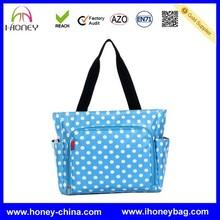 oem blue tote polka dot New Designer Baby Bag For Mommy