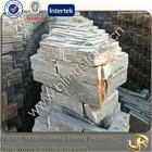 Natural slate external corner fireplace stone skin