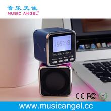 Music Angel JH-MD08D LCD screen micro SD/TF card FM mini megaphone speaker mini radio speaker