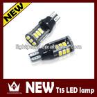High Power 5630 15 SMD Error Free Light T15 Bulb Car LED Canbus For Turn Signal Light