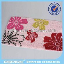 bathroom accessories gift chenille bath mat set