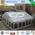 Guangzhou feita de alumínio estrutura de tenda span 10m e 30m longa/10x30m tenda tenda partido 200 para as pessoas de se sentar nas mesas