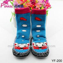 wholesale cotton floor sock animal girl tube sock