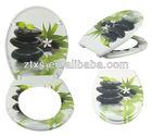 decorative UF duroplast toilet seat cover