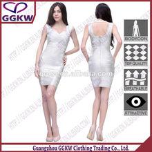 Vestidos prata, Azul vestido de casamento de prata, Prata vestido apertado
