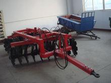farm tractor mounted wheeled disc harrow