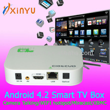 Android 4.2 allwinner A20 tv box ,HDMI,dual core 1080p android tv stick with clear tv remote