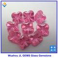 quatro folhas de flor de vidro rosa gemstone jóias