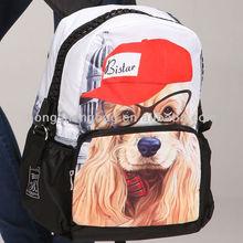 Best Selling Lovely Dog printing Animal shaped 2014 anime school bags and backpacks for School Knapsack, BBP106