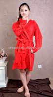 Soft Touch Factory Cheap Price Plain Colour Orange Bathrobe