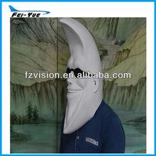 Fancy dress Manufactory Full head Latex Moon Mask Old man