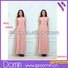 New Fashion Design Chiffon Lace Sleeve Pleated Maxi Dress