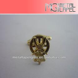 "0.5"" Free sample No MOQ Gold Plated Cufflink-fashion metal anchor shape promotion cufflinks"