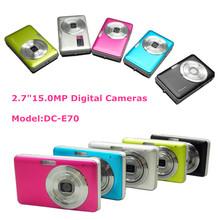 Traditional Gift Cheap 15Mega Pixel Digital Camera 2.7inch Screen CMOS Sensor 8X Digital Zoom Anti-shape Function