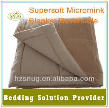 Micro plush Blanket reversible