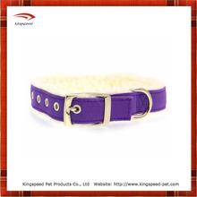 Purple pretty pet sherpa dog collar