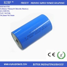high power 3.6V lithium battery/Li-SOCl2 battery D size ER34615M