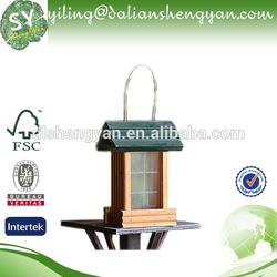 Wooden Luxury Clear Window Bird House/Exotic Bird Feeder
