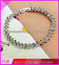 2014 turquesa jade 925 chunky pulseira prata feitas na china fh009