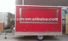 Yieson OEM Mobile Restaurant for sale/camper trailer/mobile food carts YS-FV350E
